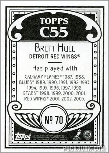 2003-04 Topps C55 #70 - Brett Hull (back)
