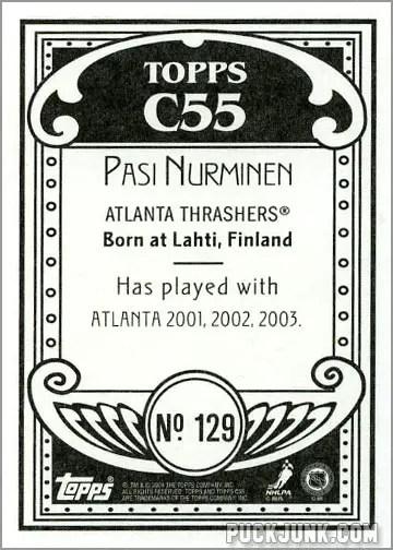 2003-04 Topps C55 #129 - Pasi Nurminen (back)