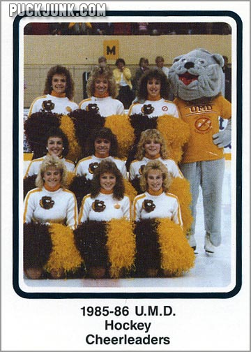 1985-86 UMD Bulldogs #35 - Hockey Cheerleaders