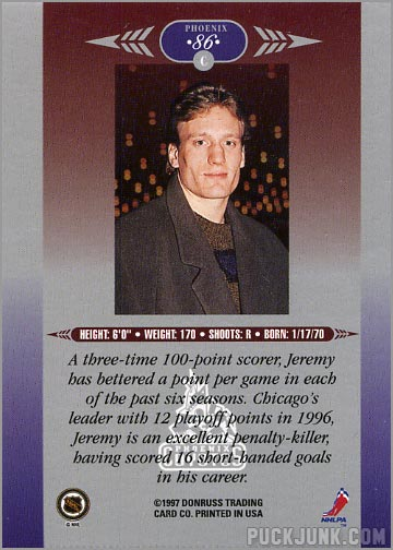 1996-97 Leaf Limited card #86 - Jeremy Roenick