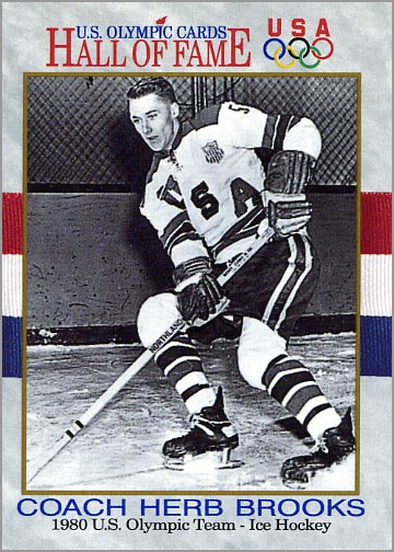 1991 Impel U.S. Olympic Hall of Fame card #72 - Herb Brooks