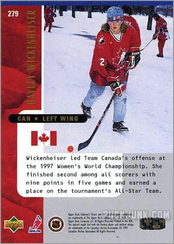 1997-98 Collector's Choice card #279 - Hayley Wickenheiser