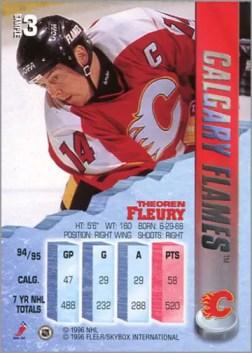 1995-96 Fleer Metal Theoren Fleury (promo)