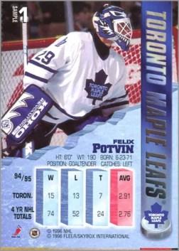 1995-96 Fleer Metal Felix Potvin (promo)