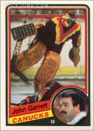 1984-85 OPC #317 - John Garrett