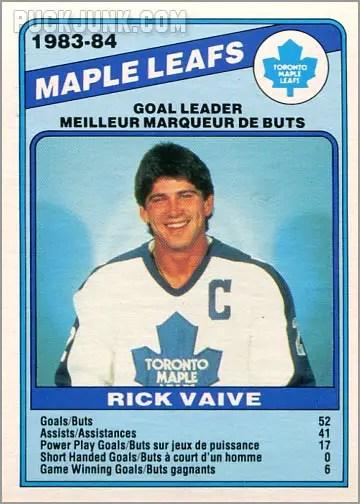 1984-85 OPC #368 - Toronto Maple Leafs Team Leaders