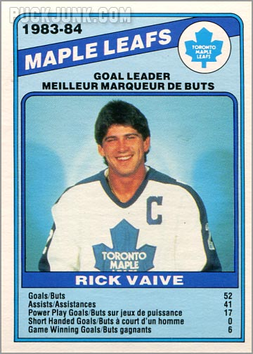 1984-85 OPC #368 - Toronto Maple Leafs Team Leaders