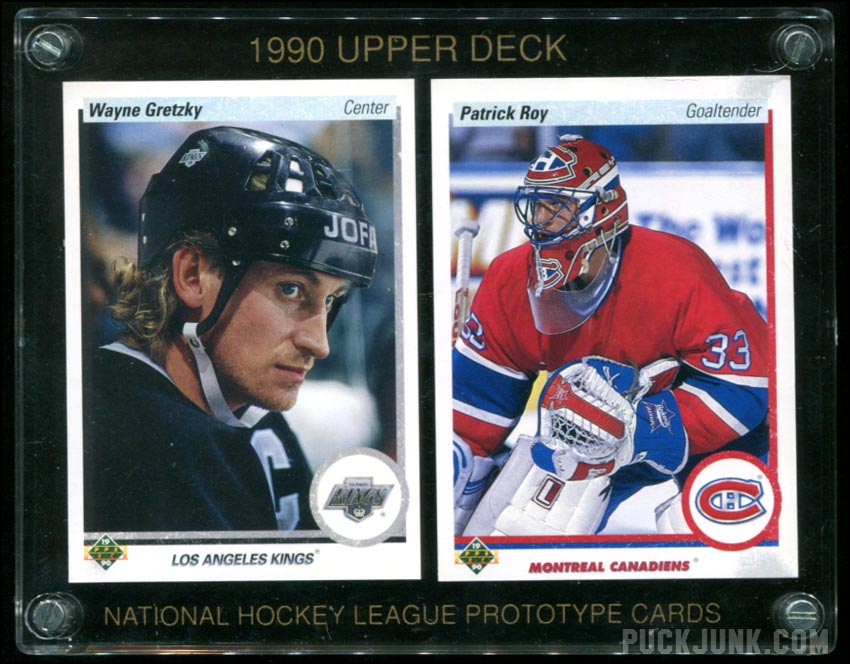 1990 91 Upper Deck Prototype Cards Puck Junk