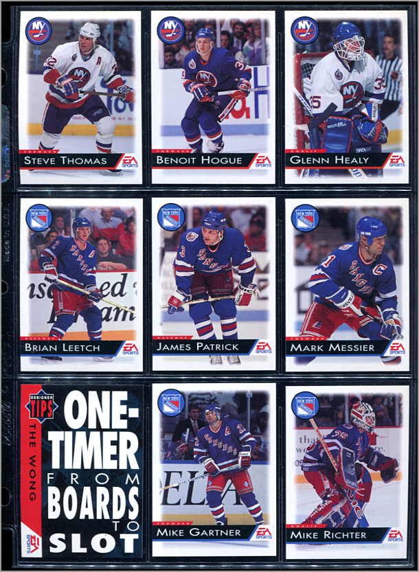 NHL '94 Page of Cards
