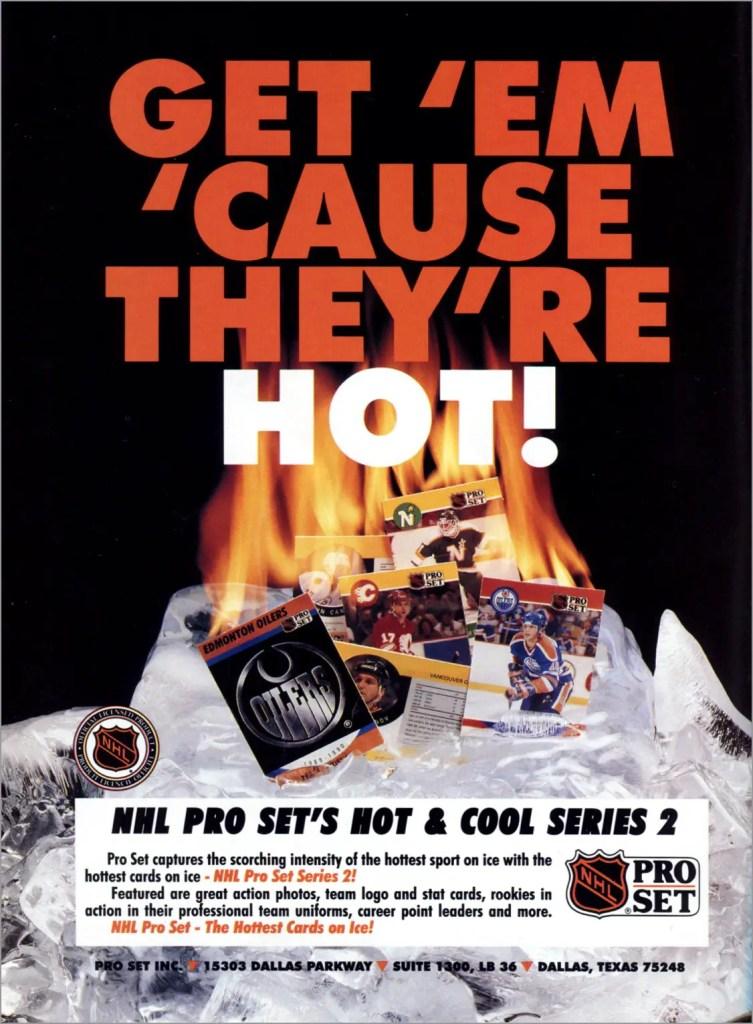 1990-91 Pro Set Hockey Series 2 advertisement