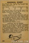1963-64 Parkhurst #35 – Robert Rousseau