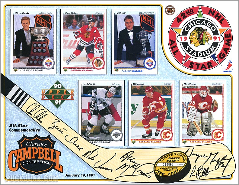 1990-91 Upper Deck Sheets - Campbell Conference
