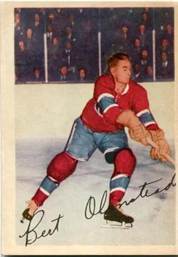 1953-54 Parkhurst #19 - Bert Olmstead