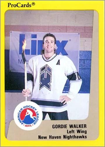 1989-90 Procards AHL/IHL #22 - Gordie Walker