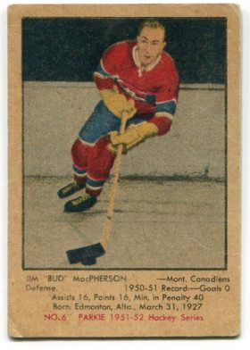 "1951-52 Parkhurst #6 - Jim ""Bud"" MacPherson"