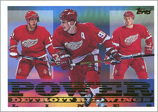 1994-95 Topps Power Lines #8 - Detroit Red Wings