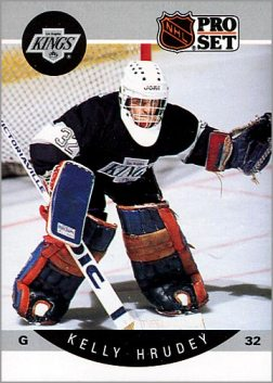 1990-91 Pro Set card #119 - Kelly Hrudey