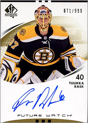 2007-08 SP Authentic #201 - Tukka Raask