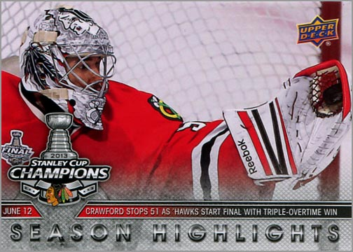 2013 Chicago Blackhawks Commemorative Box Set #30 - Season Highlights
