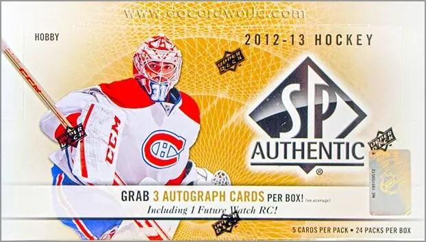 2012-13 SP Authentic Hockey box