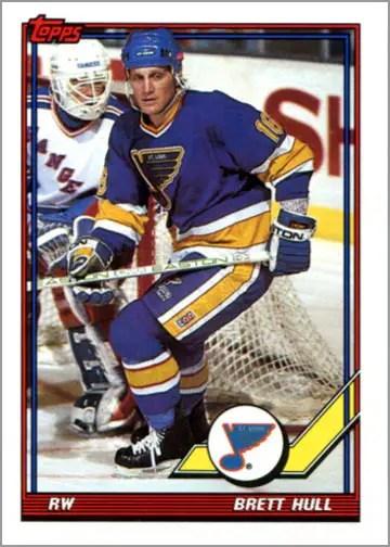 1991-92 Topps card #303 - Brett Hull