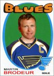 Cards of Martin Brodeur in his new jersey