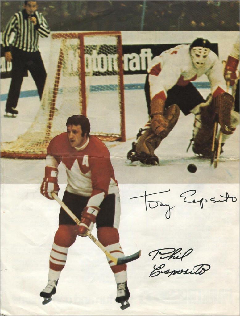 Phil and Tony Esposito's Action Hockey Tabletop Game Print Ad