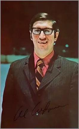 1971-72 St. Louis Blues Postcards - Al Arbour (coach)