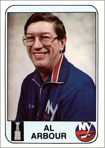 1983-84 Islanders News #29 - Al Arbour (coach)