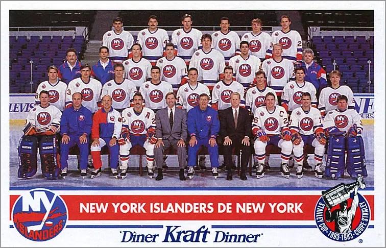 1992-93 Kraft Dinner - New York Islanders