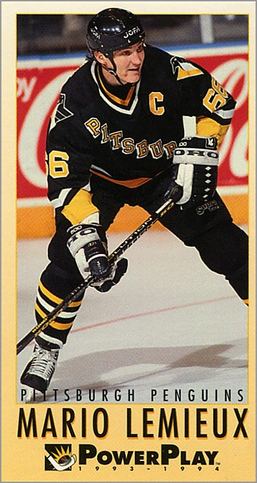 1993-94 Fleer Power Play #190 - Mario Lemieux