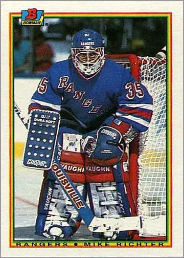 1990-91 Bowman #218 - Mike Richter