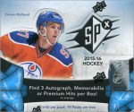 Box Break: 2015-16 Upper Deck SPX Hockey
