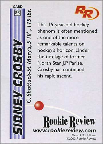 2003_Sidney_Crosby_Rookie_Review_back