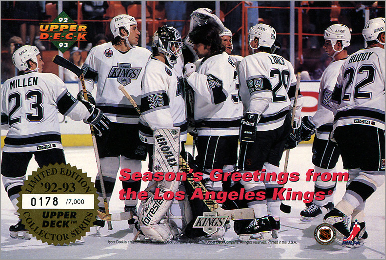 1992 Los Angeles Kings Holiday Card