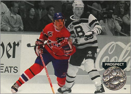 #259 - John LeClair, Platinum Prospect (view back)