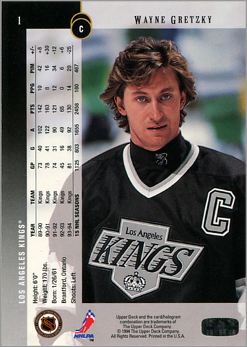 1994-95 Upper Deck Hockey promo card