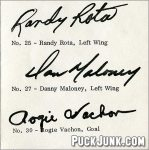 1973-74 L.A. Kings Autograph Sheet