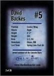 David Backes' First Hockey Card