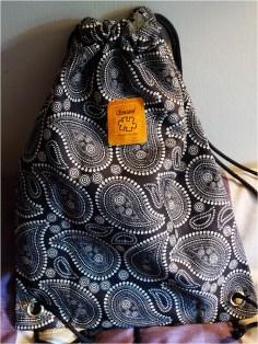 Drawstring bag bought on Etsy
