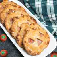 Jack O'Lantern Ham and Swiss Hand Pies