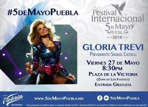 GloriaTrevi en el Festival Internacional 5 deMayo Puebla 2016