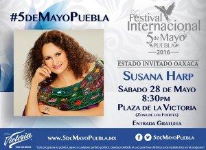 Susana Harp en la Plaza de la Victoria #5deMayoPuebla
