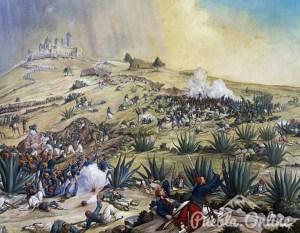 """Exhiben la pintura la """"Batalla del 5 de Mayo"""" en Palacio Municipal"""
