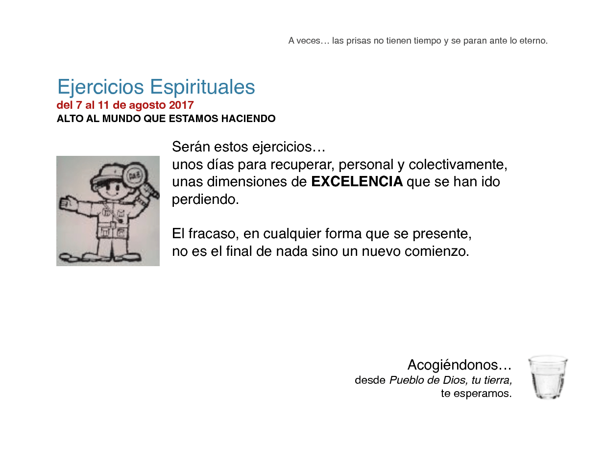 Cartel Ejercicios Espirituales - agosto 2017