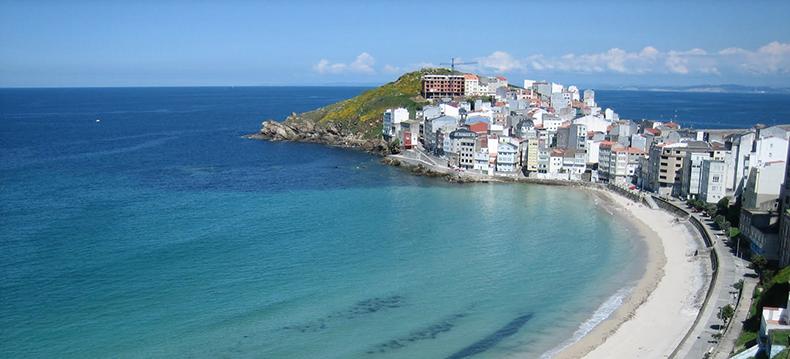 Malpica de Bergantiños, a mariner town in the coast of Galicia ...