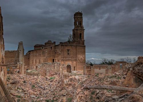 El Pueblo de Belchite en la provincia de Zaragoza