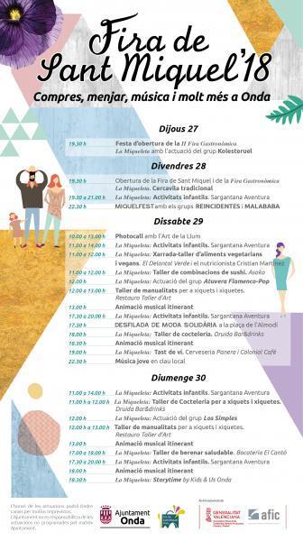 Cartel Feria SAN MIGUEL ONDA 2018