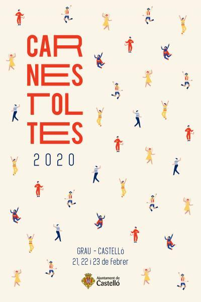 Cartel Carnestoltes 2020 en el Grau de Castelló
