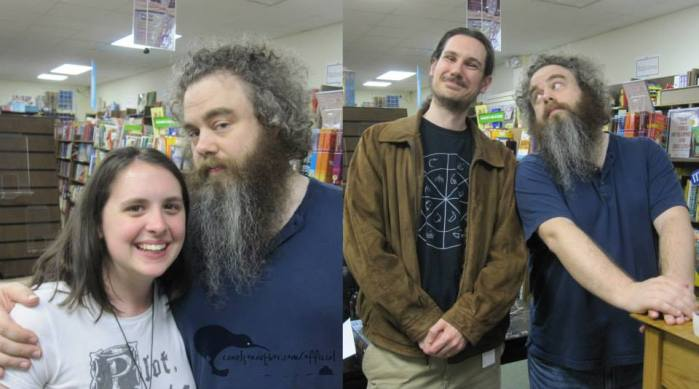 Me & Wervyn meeting Patrick Rothfuss